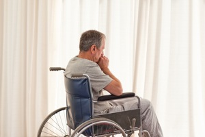 Nursing Home Negligence Attorney man in wheelchair